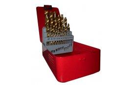 Sada vrtákov HSS (25ks/1,0-13mm) TiN