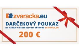 Darčekový poukaz 200 EUR