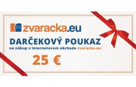 Darčekový poukaz 25 EUR